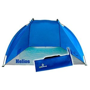 Outdoorer Tienda de Playa Helios, azul, UV 60, extra ligera, pack mini 14