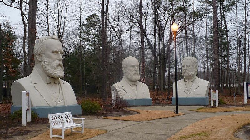 Abandoned Giant Busts of Presidents Park