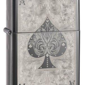 Zippo Spade Card Pocket Lighter, Black Ice 1
