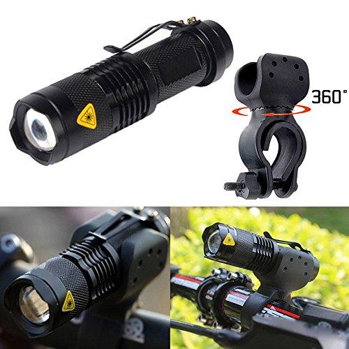 Ularmo 1200lm Cree Q5 LED ciclismo bici bicicleta cabeza frontal luz linterna + 360 soporte 3