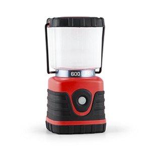 Yukatana Yantilus Linterna para camping (flujo luminoso 600lm, 6 luces LED, duracion de la batería litio 150h, lumigas electrico con alcance 12m, funciones intensidad luz, base cuadrada, incluye asa y gancho) 3