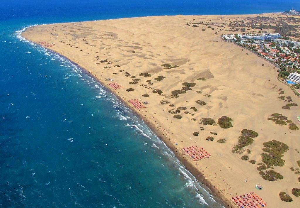Foto Aérea de Las Dunas de Maspalómas. Costa Turística de San Bartolomé de Tirajana Gran Canaria
