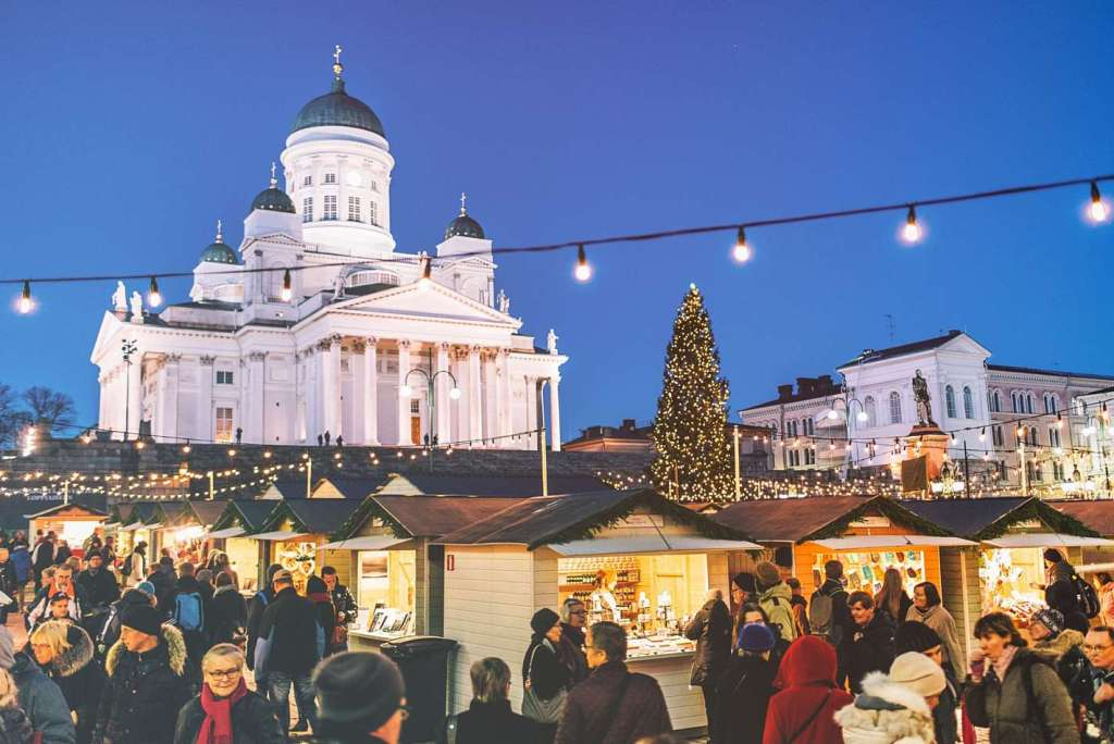 Mercado de navidad de Helsinki