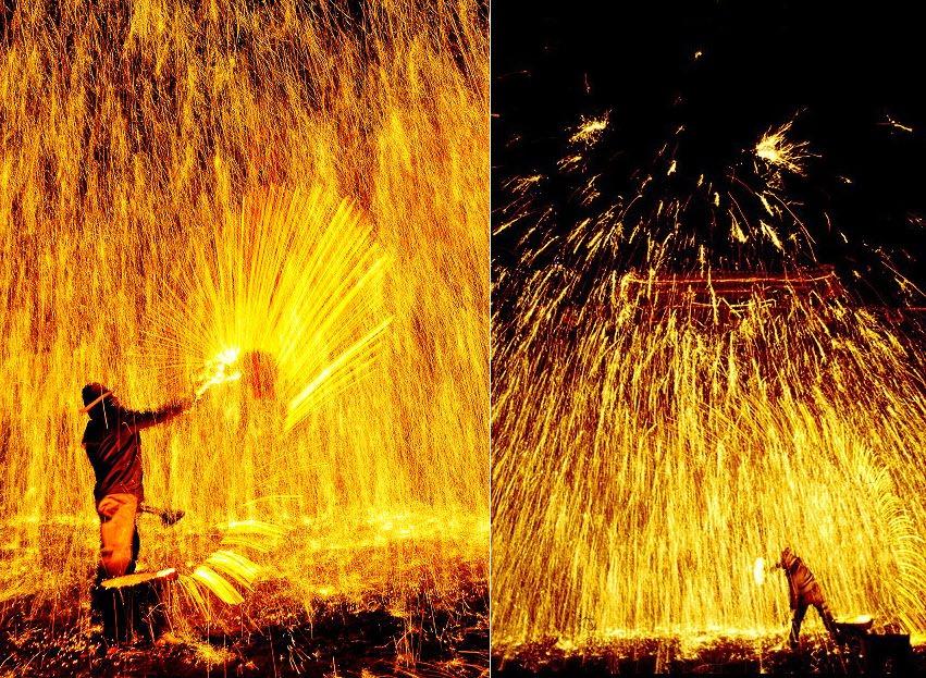 Da Shuhua, festival de lanzamiento de hierro fundido