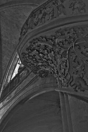 Escalera interior iglesia Santa Maria Morella