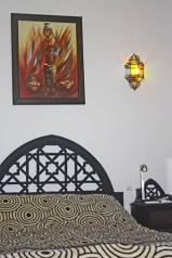 Dormitorios cuadro lámpara Ryad Laarouss medina Marrakech