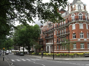Edificio paso de cebra Abbey Road The Beatles Londres