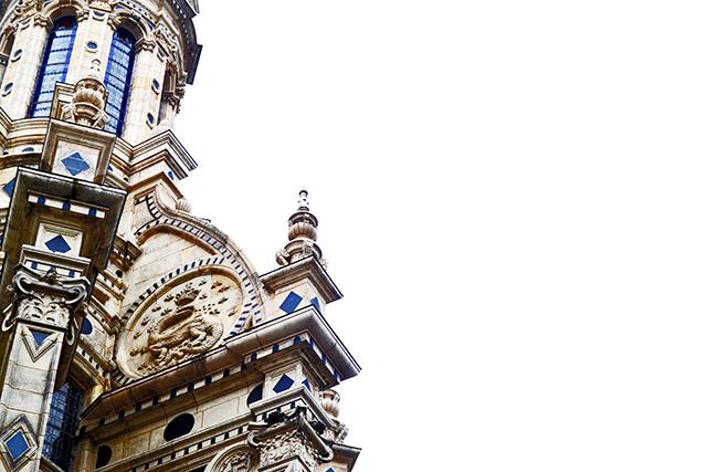Ornamentos decoración piedra símbolos animales torres castillo Chambord Francia