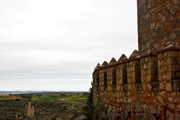 Almena muralla piedra castillo Alarcón Patrimonio Cuenca