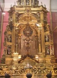 Altar mayor decoración barroca Museo Catedral Valencia