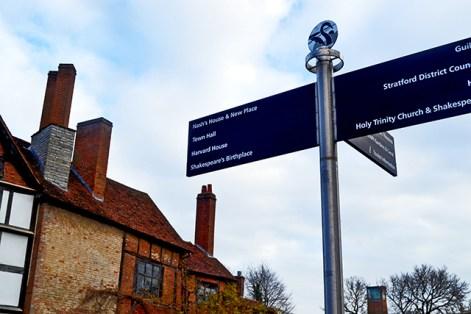 Señales calles William Shakespeare Stratford-Upon-Avon