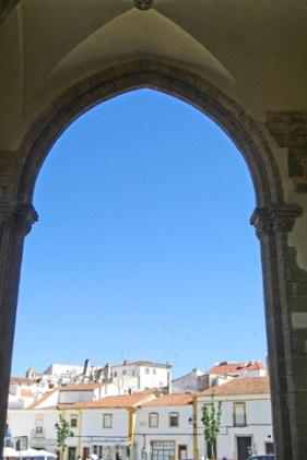 Arco aguja vistas exterior Monasterio de Batalha