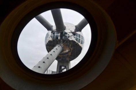 Vistas interior átomo Atomium Bruselas