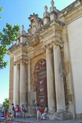 Entrada Biblioteca Joanina Universidad de Coimbra Portugal