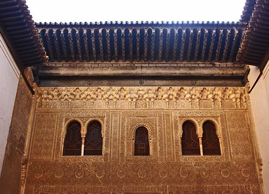 Celosías fachada ventanas interior Alhambra Granada