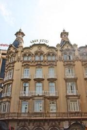 Fachada principal modernista Gran Hotel centro histórico Albacete
