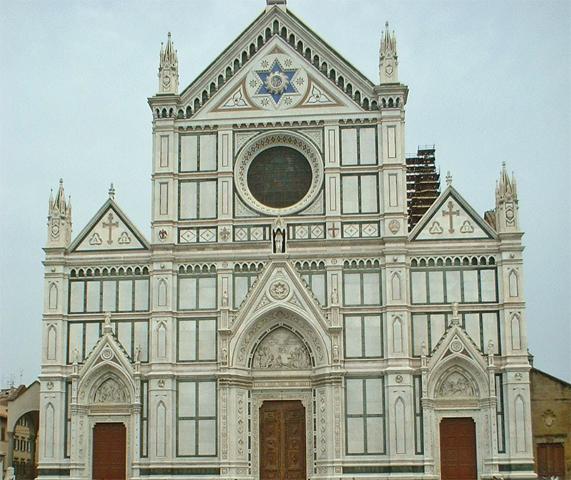 Fachada Iglesia Santa Croce Florencia