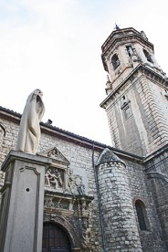 Escultura fachada Iglesia San Ildefonso Jaén