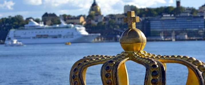 Corona real ferry archipiélago Estocolmo Suecia