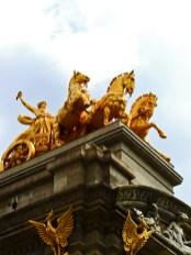 Carruaje dorado arco triunfo Parque Ciutadella Barcelona