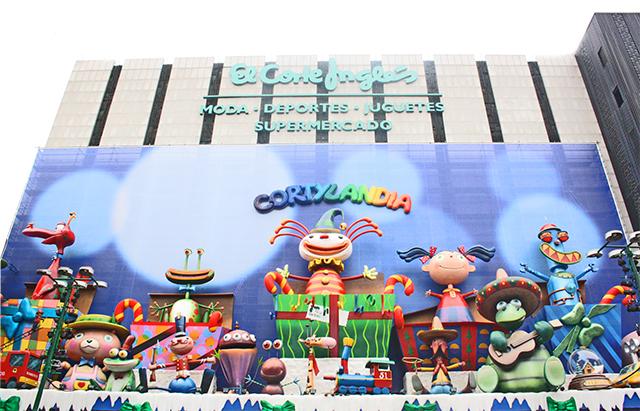 Fachada muñecos Cortylandia El Corte Inglés Navidad Madrid