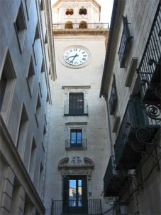Torre reloj neoclásico Ayuntamiento Alicante
