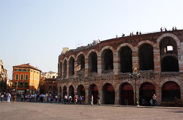 Exteriores Arena anfiteatro Piazza Bra Verona