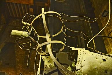 Armadura caballo metálica torre campanario ayuntamiento Gante Bélgica