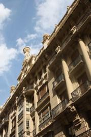 Fachadas decoración barroca centro histórico Albacete