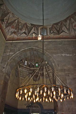 Lámpara 20 cúpulas mezquita verde Bursa Turquía