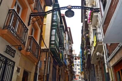 Calles estrechas tascas Portugalete Bizkaia País Vasco