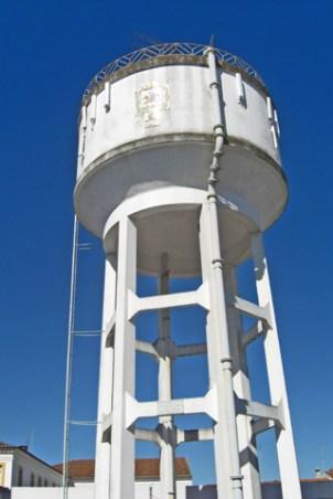 Depósito de agua blanco Évora Portugal