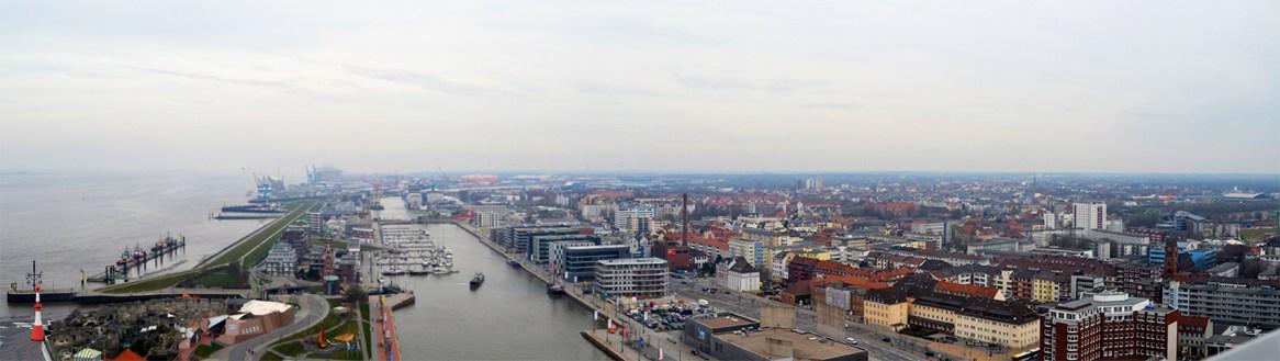 Panorámica puerto Bremerhaven