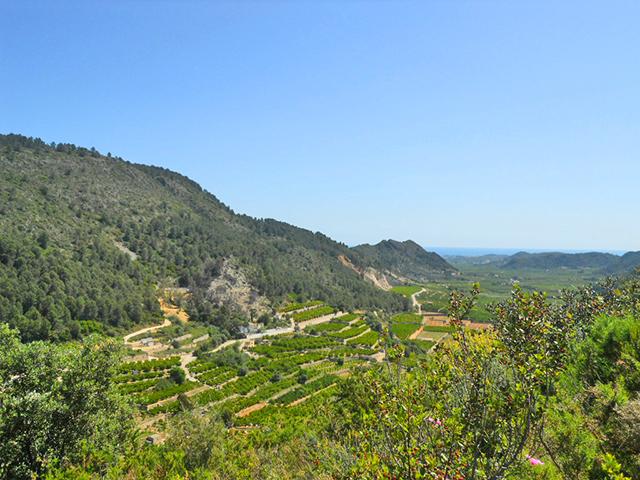 Panorámica valle Gallinera Forna Sierra Alicante