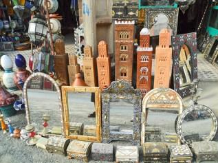 Puesto souvenirs productos típicos bereberes Valle Ourika