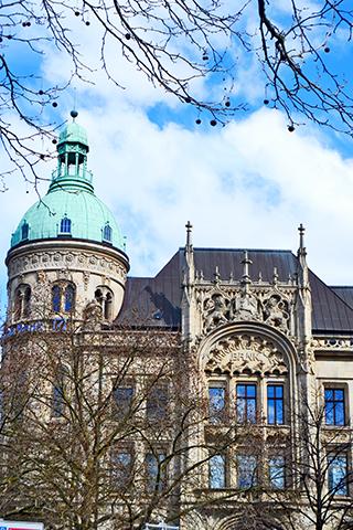 Torre cúpula verde fachada decoración edificio barroco Georgstrase Hannover