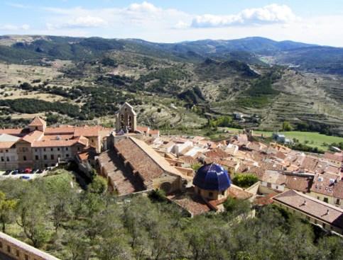 Vista panorámica comarca Els Ports pueblo Castellón