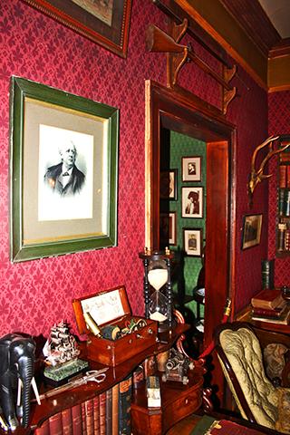 Salón despacho Museo Sherlock Holmes Londres