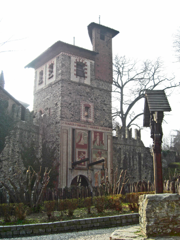 Construcción medieval Parque Valentino Turín
