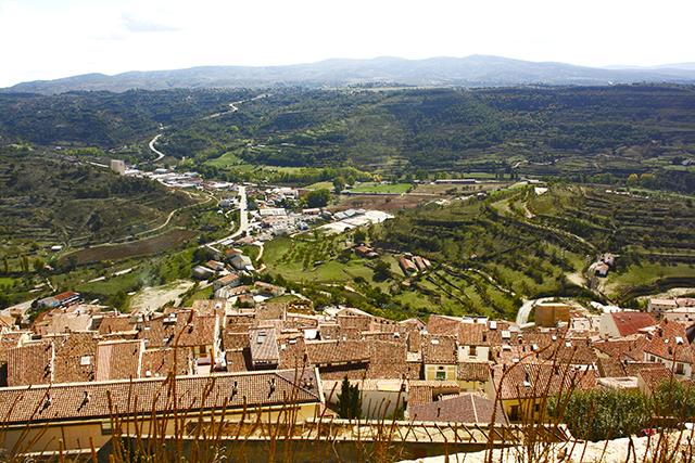 Vistas núcleo histórico Morella sierra Maestrat Castellón