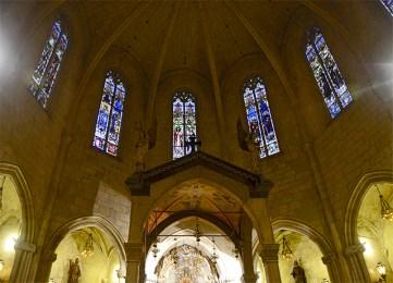 Cúpula vidrieras Prioral Sant Pere Reus