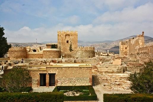 Panorámica palacio recinto muralla Alcazaba Almería