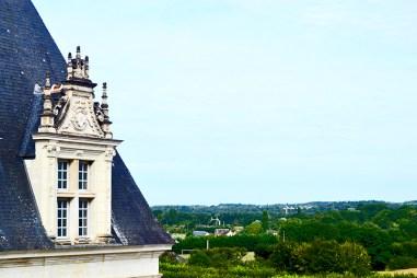 Vista panorámica trasera Jardines y Castillo de Villandry