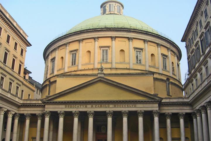 Fachada principal Iglesia San Carlo Corso Vittorio Emanuele Milán