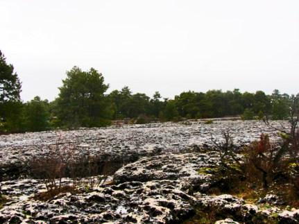 Erosiones roca piedras suelo Ciudad Encantada Cuenca