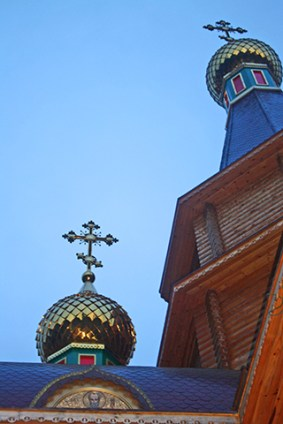 Cúpulas cebollas iglesia ortodoxa rusa Arcángel San Miguel Altea