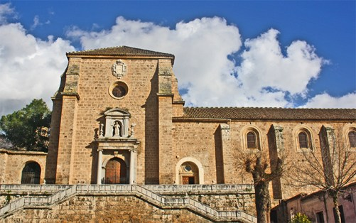 Fachada monasterio Cartuja barroco andaluz Granada