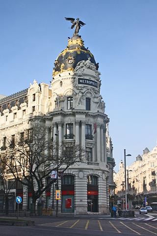 Edificio Metrópolis estilo francés Gran Vía Madrid