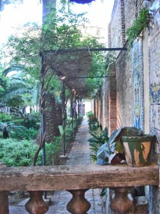 Jardín patio interior vegetación Casa Museo Benlliure Valencia