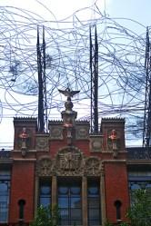 Fachada cables Fundación Tapies neomudéjar Barcelona